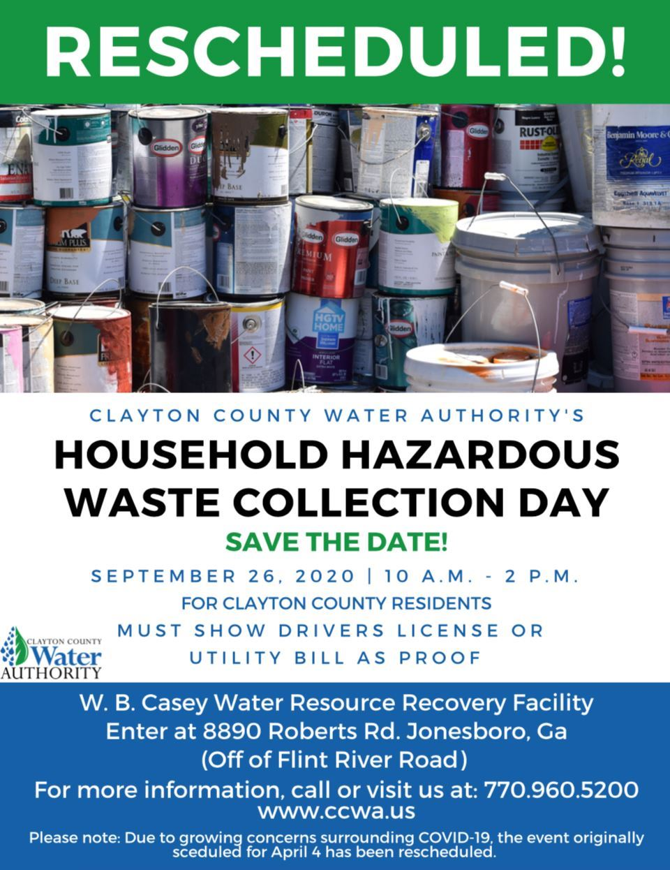 Household hazardous waste collection day