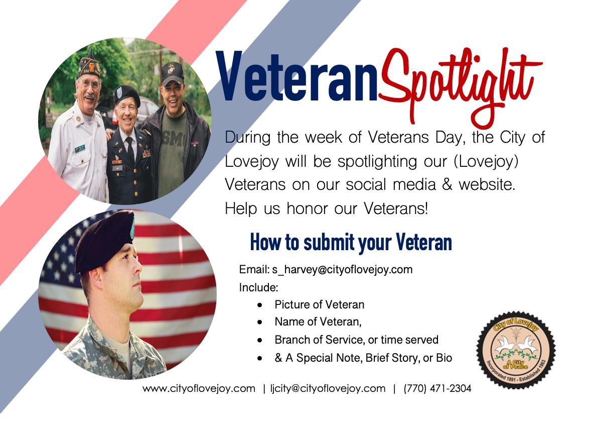 Veterans Spotlight - Submission Flyer